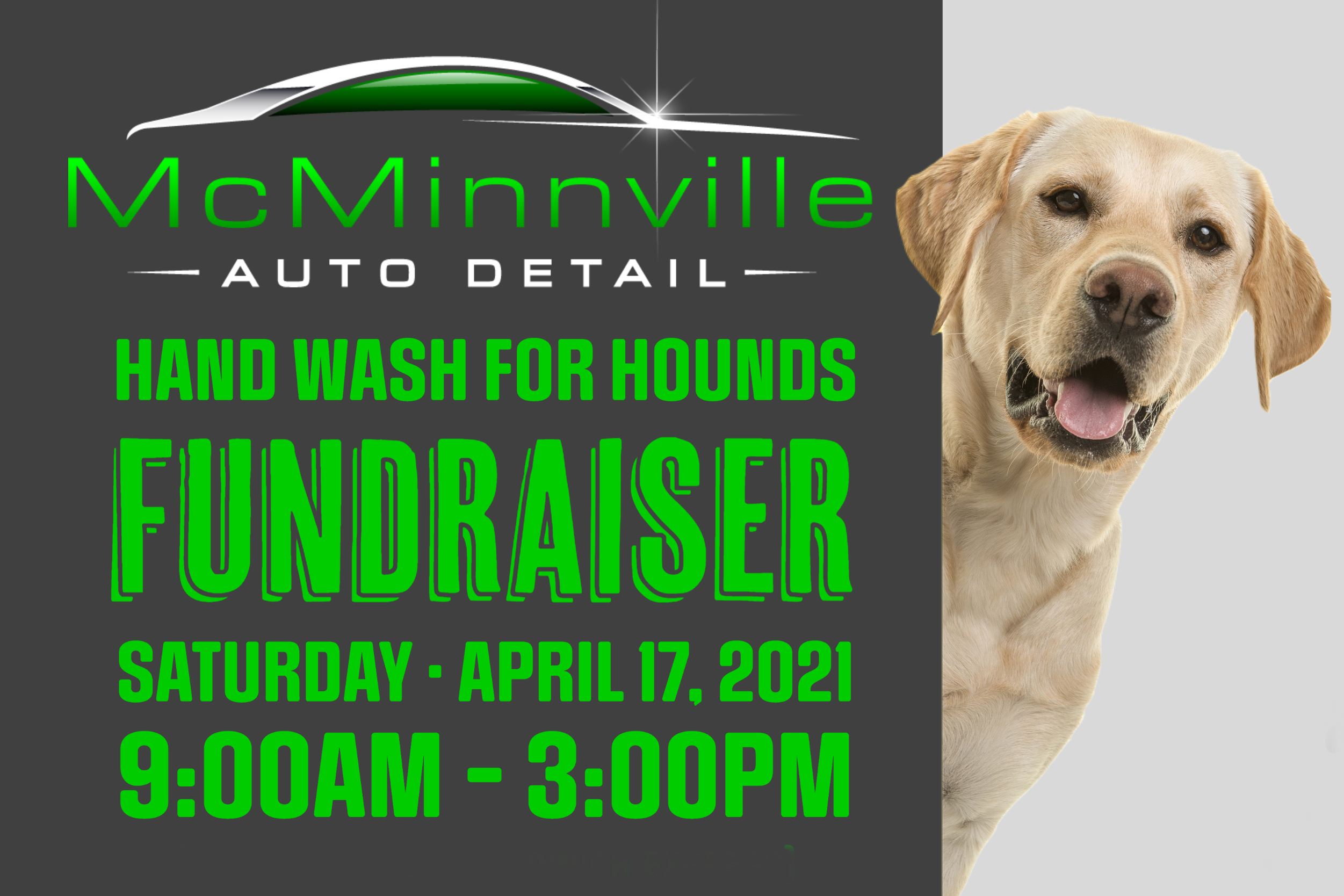 McMinnville Auto Detail Hand Wash For Hounds Fundraiser