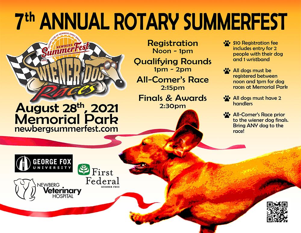 7th Annual Rotary Summerfest Wiener Dog Races